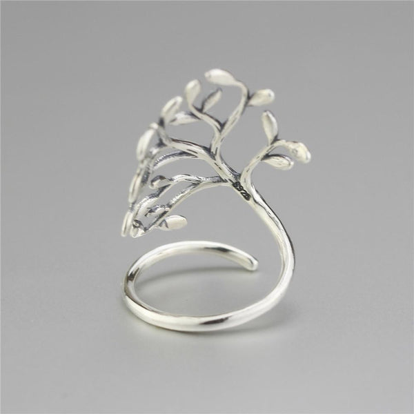 Hand Made 925 Sterling Silver Tree Of Life Ring