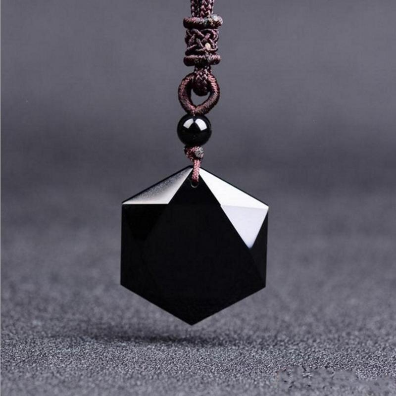 Geometric Obsidian Necklace