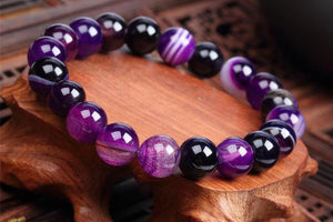 Purple Agate Grounding Bracelet