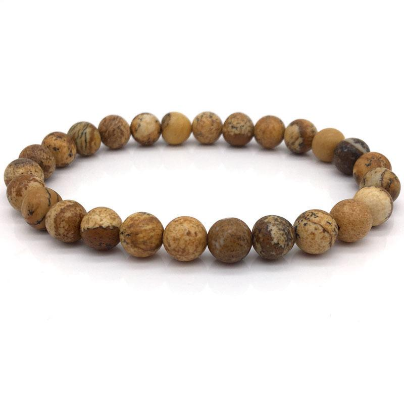 Brown & White Fire Agate Energy Bracelet Set
