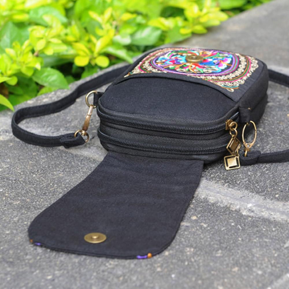 Hand Embroidered Ethnic Thai Sling Bag
