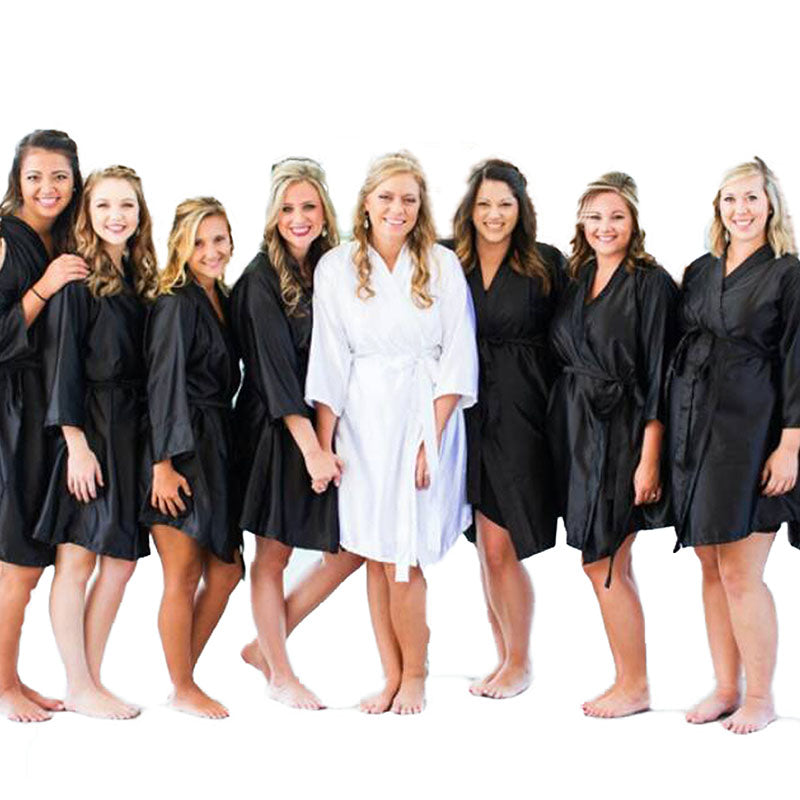 Black Bridesmaid Robe Set