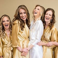 Load image into Gallery viewer, Champagne Bridesmaid Robe Set