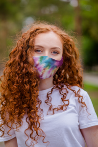 Tie Dye 3 Layer Cotton Reuasable Face Mask