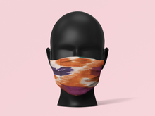 Load image into Gallery viewer, Orange Pink Cotton Hippie Face Cover