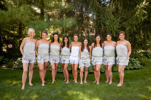 Gray Bridesmaid Romper
