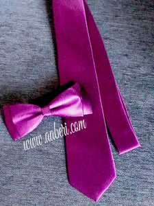 Purple Mens Shinny Neck Tie