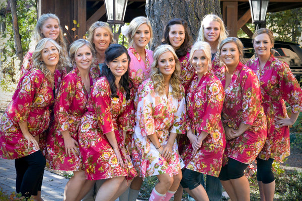 Bridesmaid robes Floral robe set of 4 bridesmaid robe set of 6 set of 9 floral kimono floral robes wedding bridal robe set of 7 set of 8 set