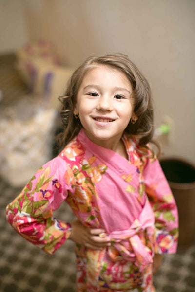 Flower Girl Floral Robe