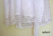 Load image into Gallery viewer, Bridal Net Lace Robe in White with customisation optional