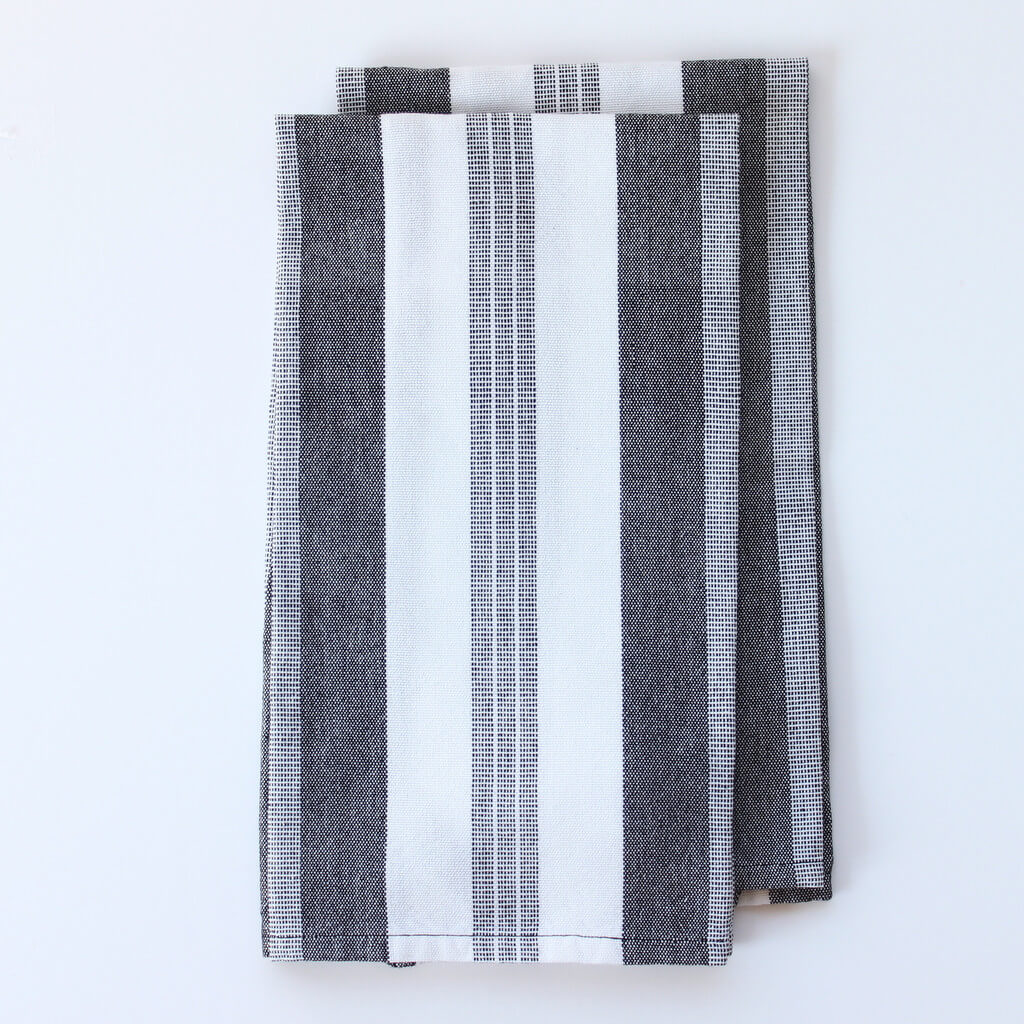 Black & White Striped Dish Towels