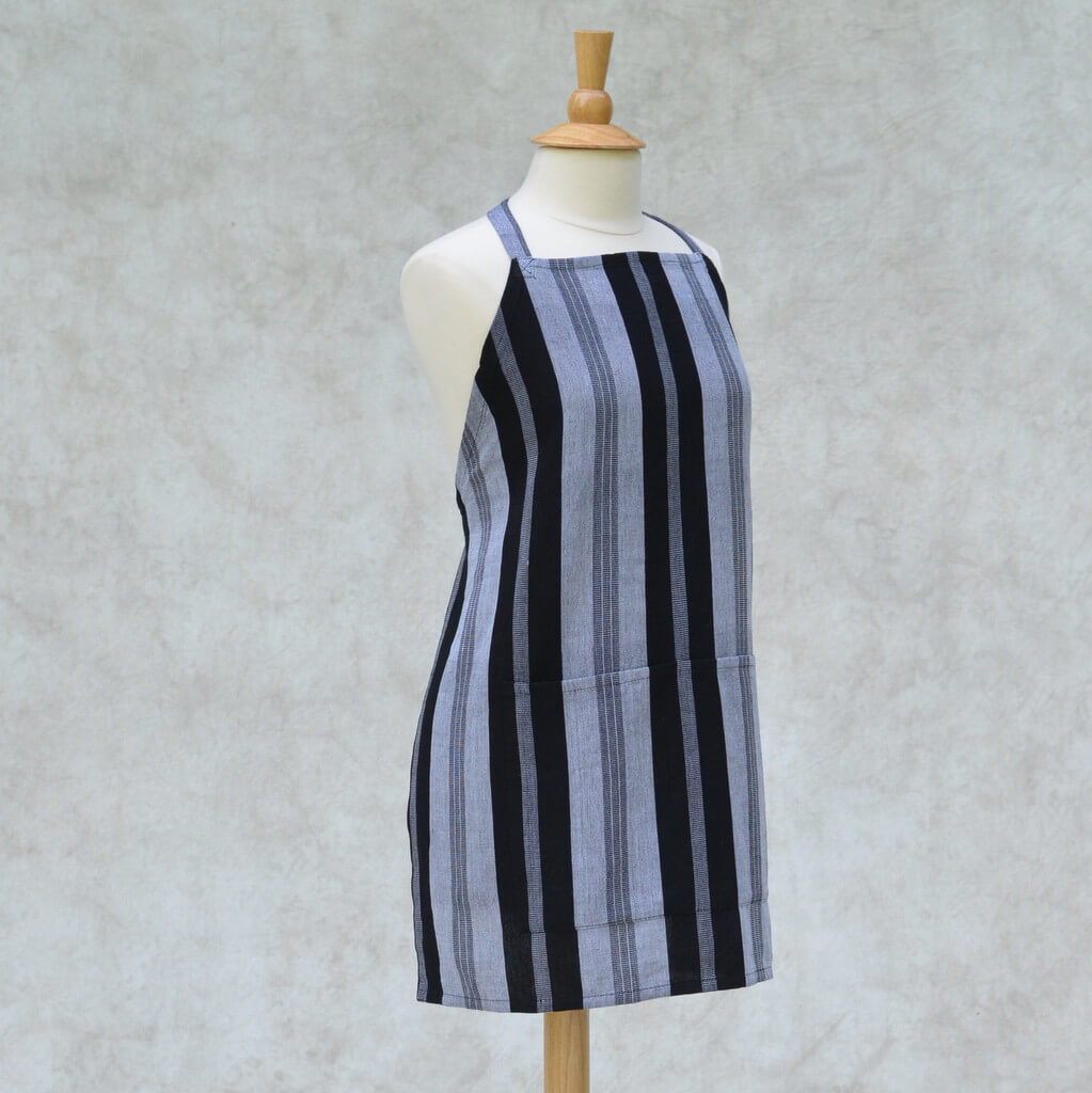 Black & Gray Stripe Aprons