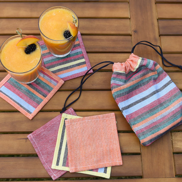 Stripes and Solids Coasters