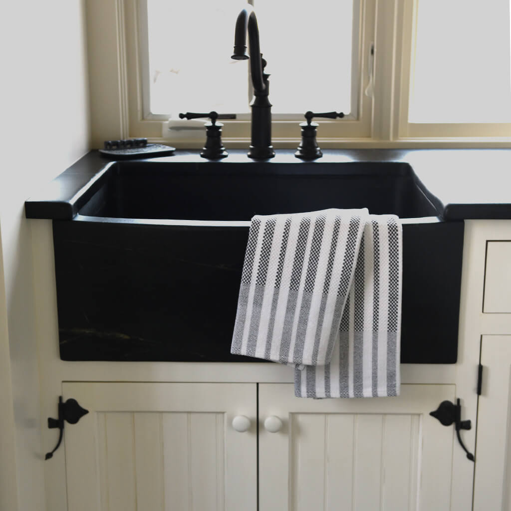 Black & White Hache Dish Cloths & Towels