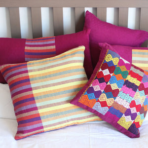 selection of magenta pillows