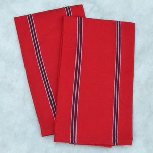Striped Kitchen Towels | Cajola Red