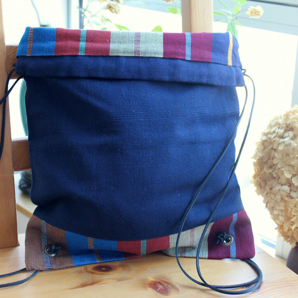 Drawstring Backpack | Indigo Blue