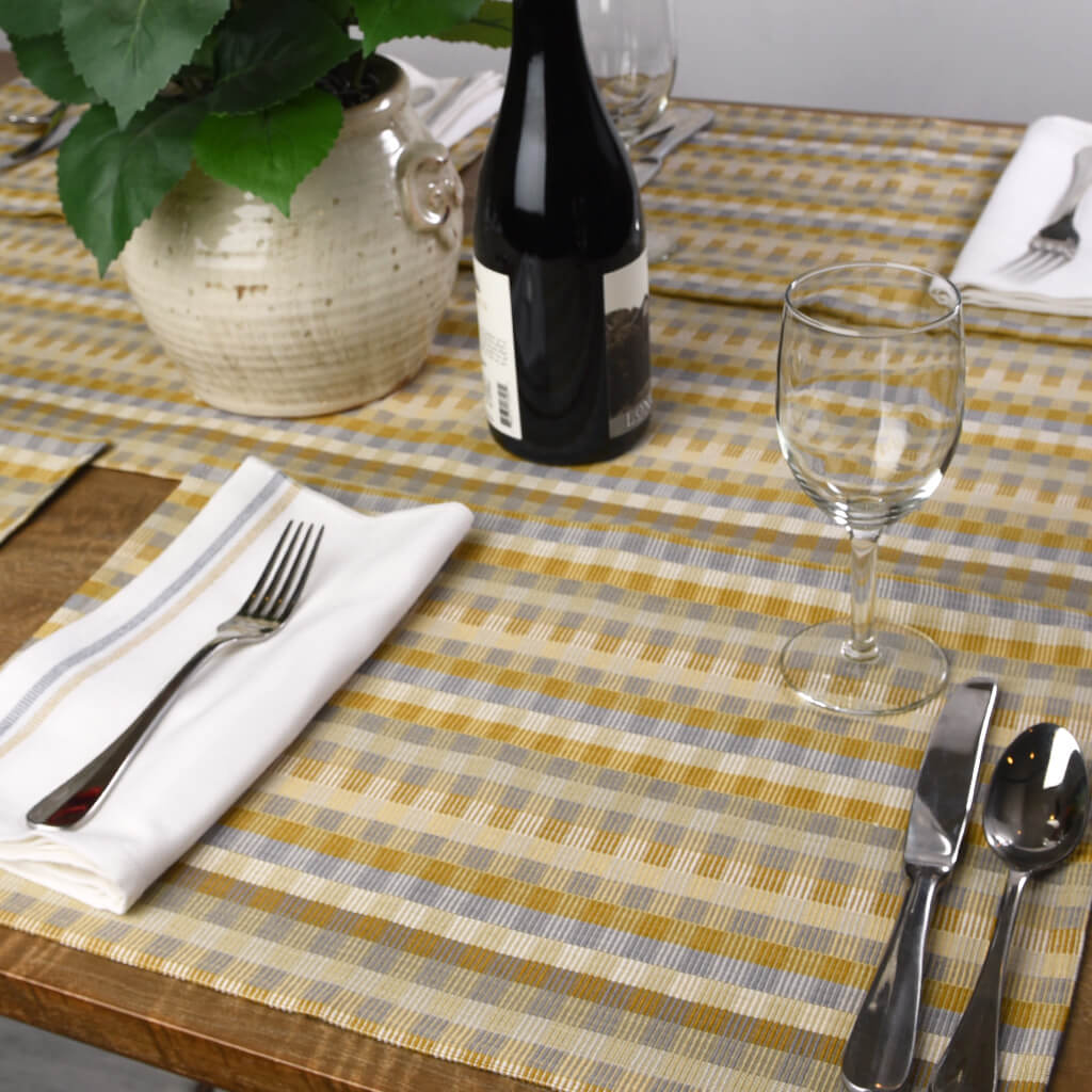 Cuadritos Placemats Champagne