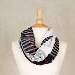 Infinity Scarf | Black & White Block