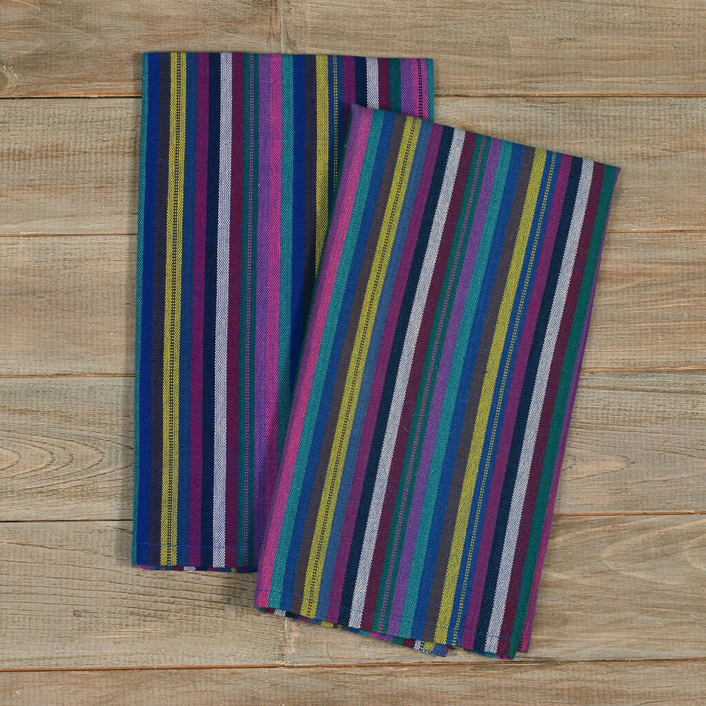 Striped Kitchen Towels | Cobalt Stripes