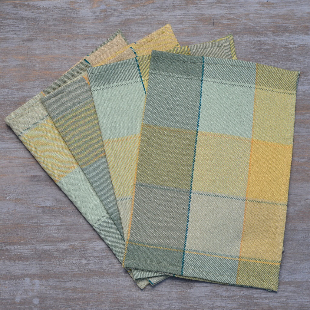 Plaid Twill Placemats | Celery & Butter