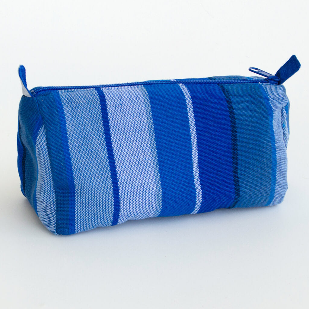 Cosmetics Bag in Stormy Blues