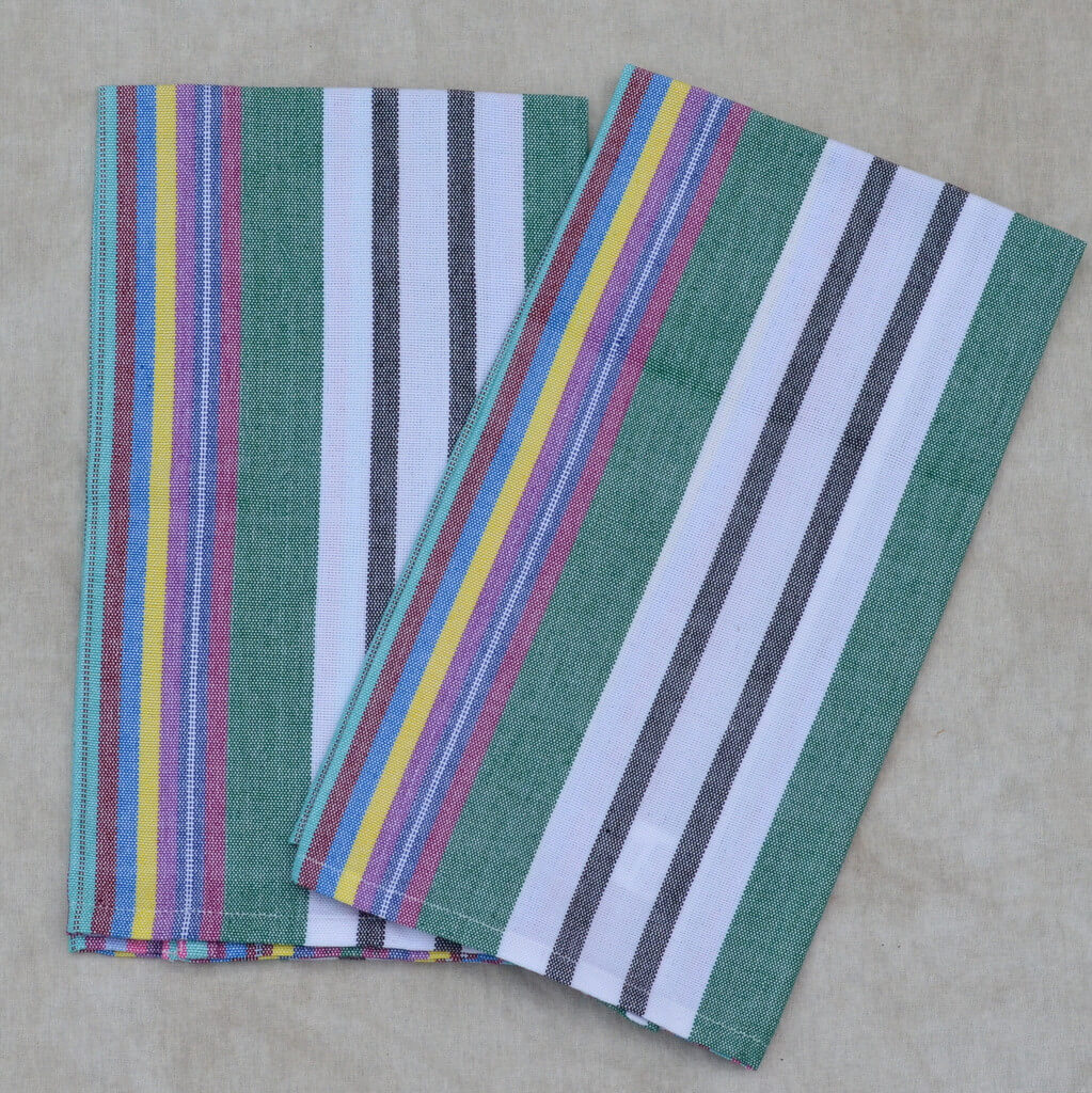 Striped Kitchen Towels | Soft Multi Stripes