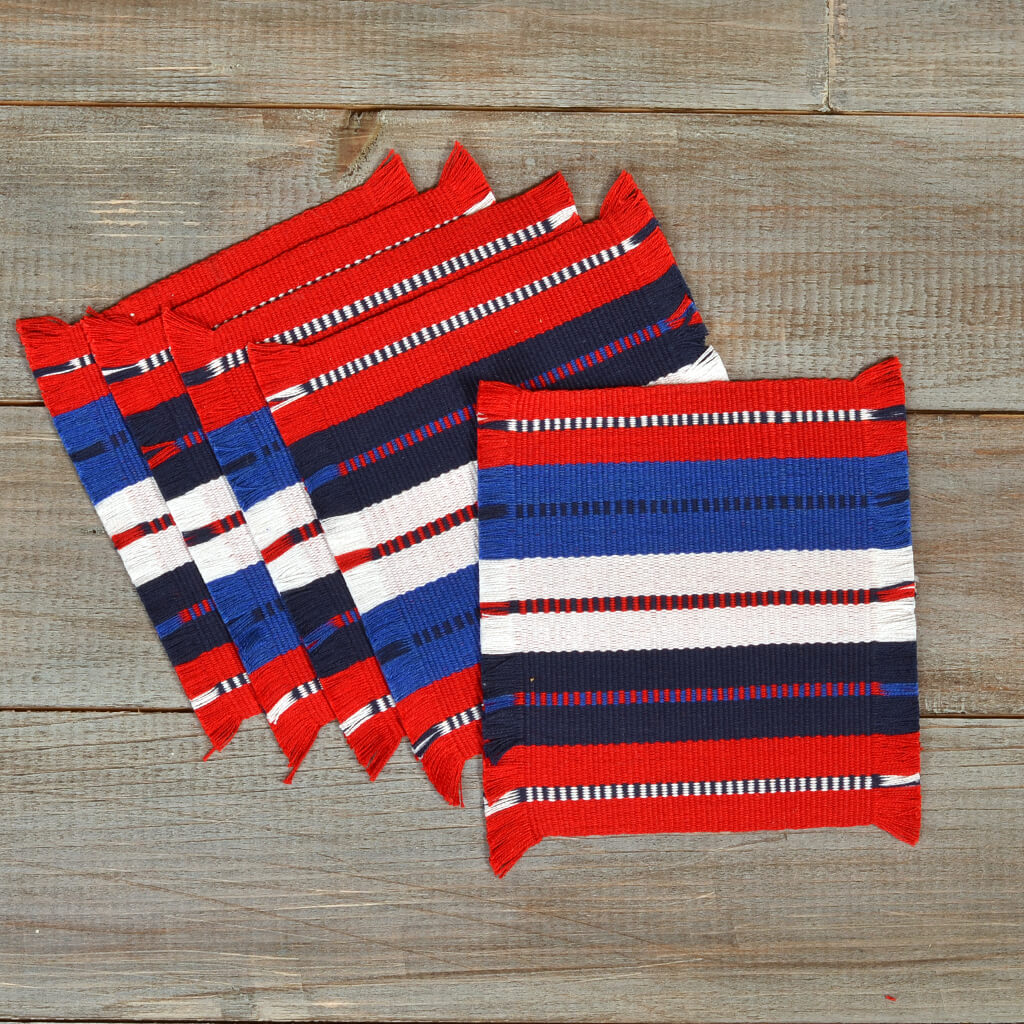 Celebration Coasters | Red White & Blue