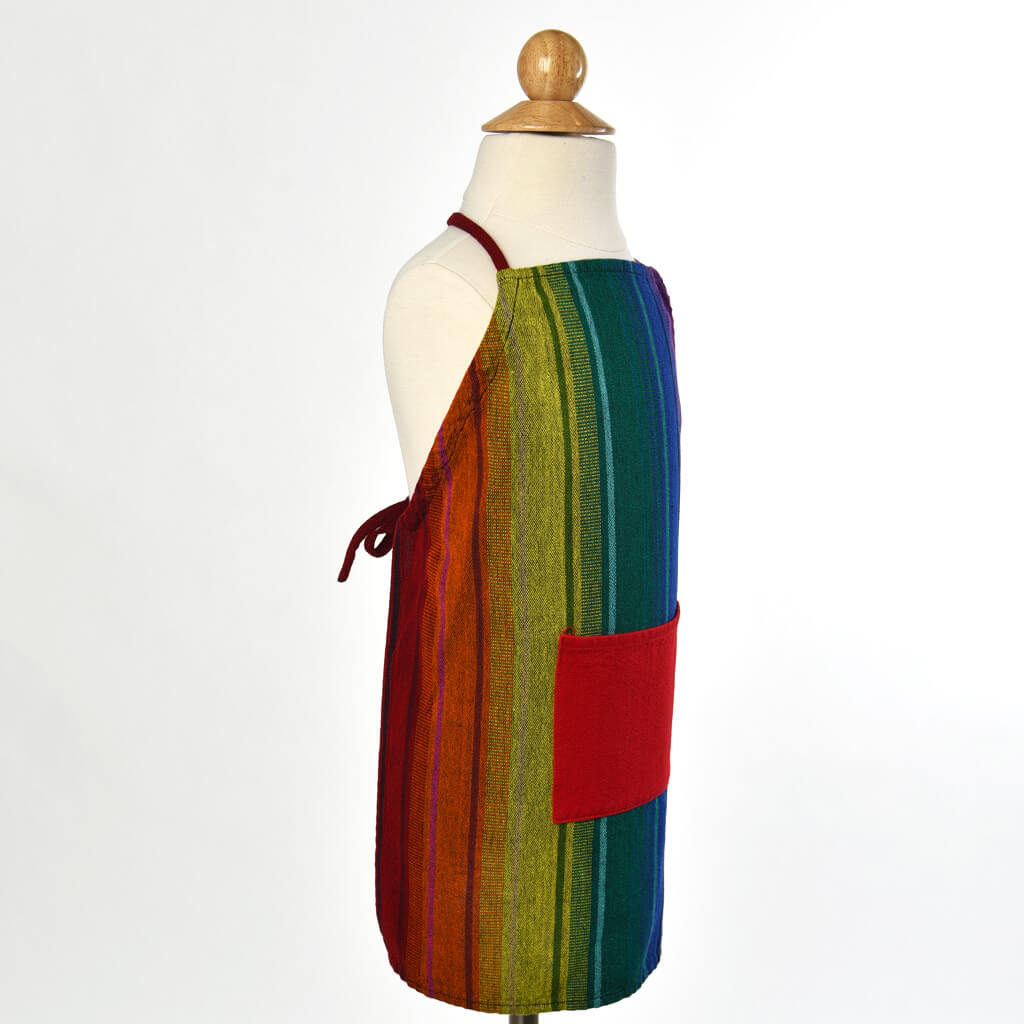 Children's Apron Rainbow Stripe