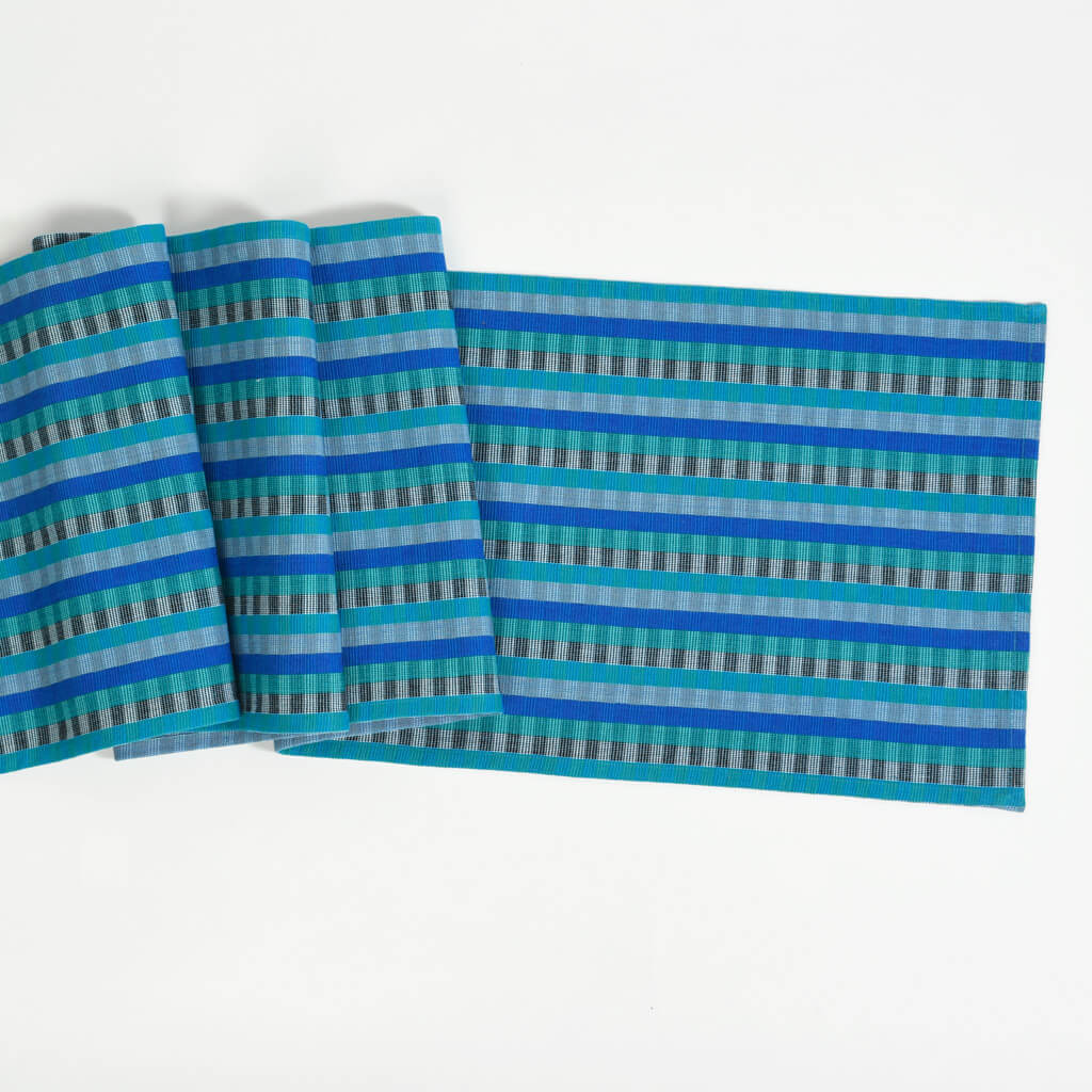 Cuadritos Table Runner Blue Moon