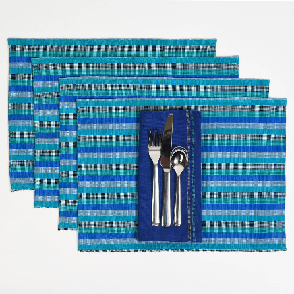 Cuadritos Placemats Blue Moon
