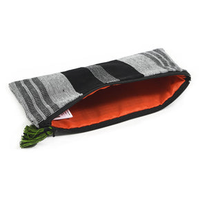 Pencil Case | Black & Gray Stripe
