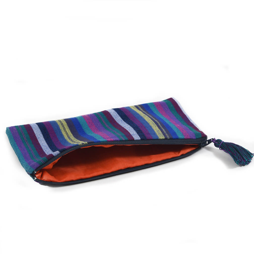 Pencil Case | Cobalt Stripe