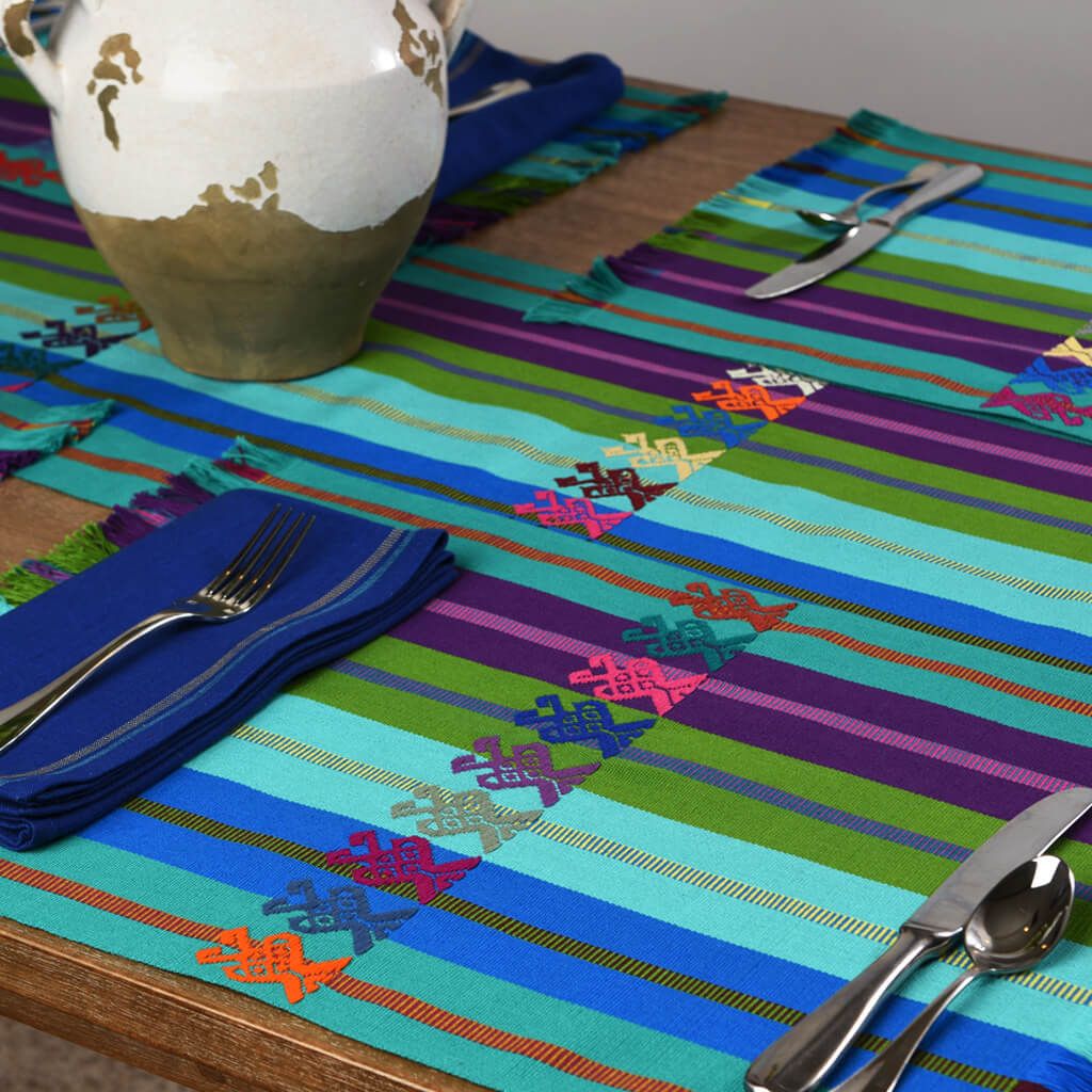 Celebration Runner & Placemat Set |  Ocean & Lake