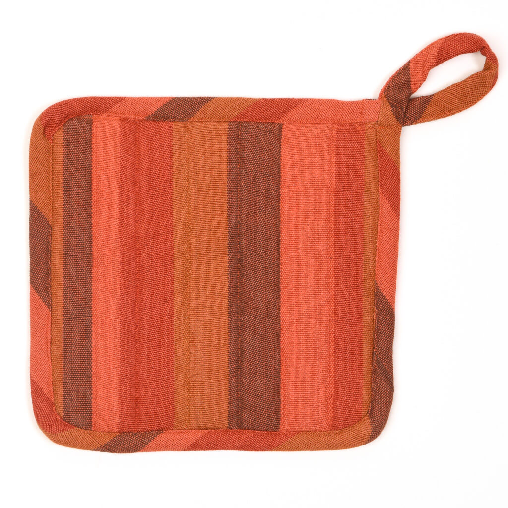 Square Pot Holder | Pumpkin Spice Stripes