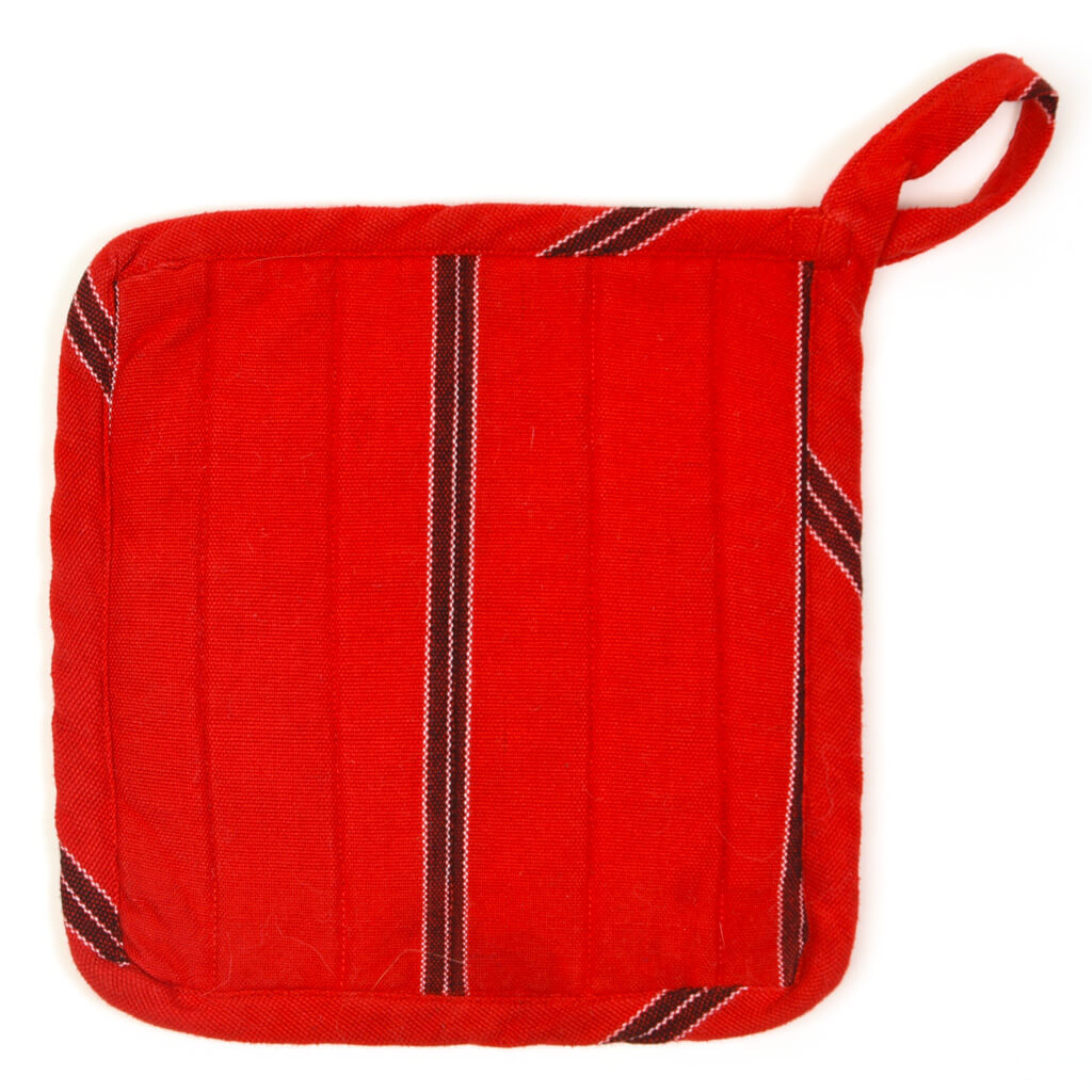 Square Pot Holder | Cajola Red Stripes