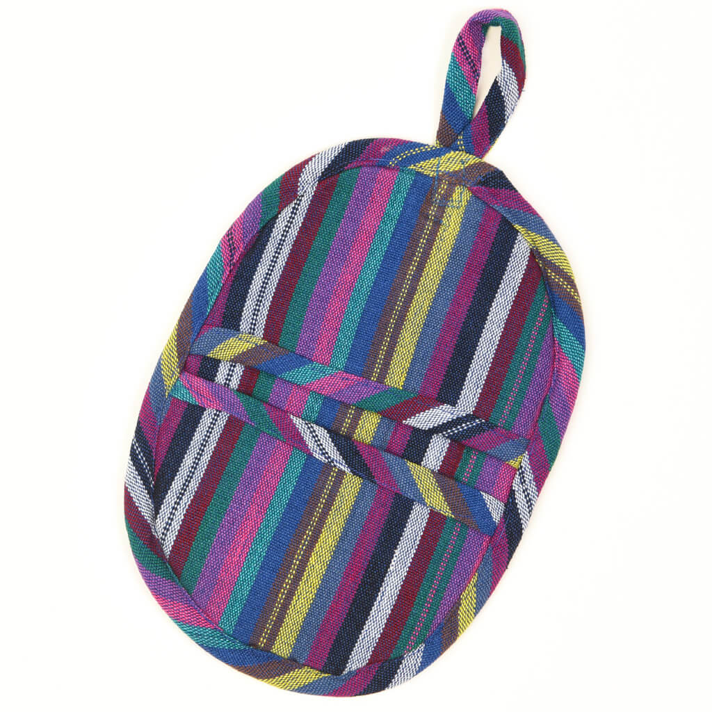 Mini Oven Mitt  | Cobalt Stripes