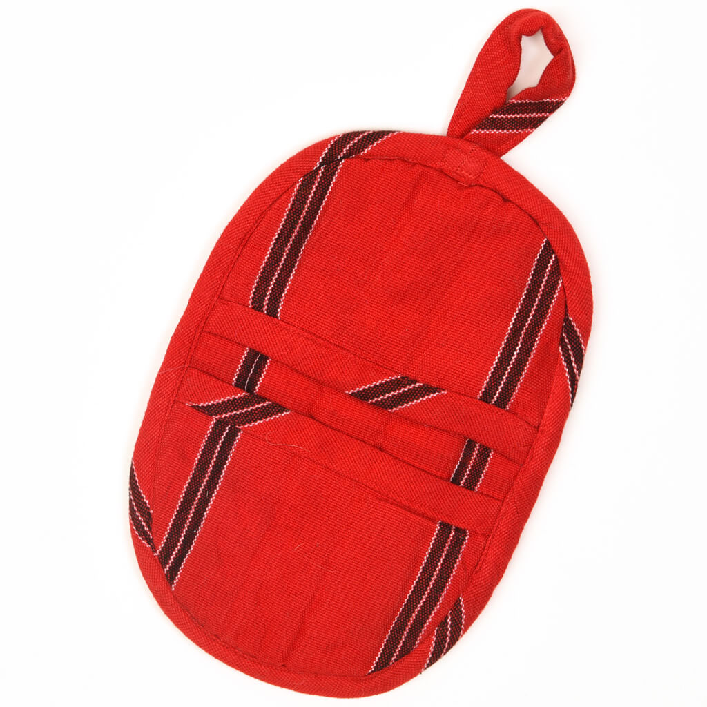 Mini Oven Mitt | Cajola Red Stripes