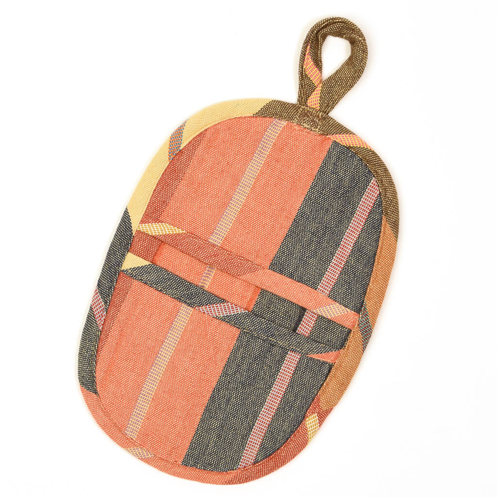 Mini Oven Mitt | Wide Caramel Stripes