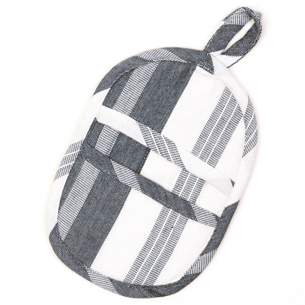 Mini Oven Mitt | Black & White Stripes