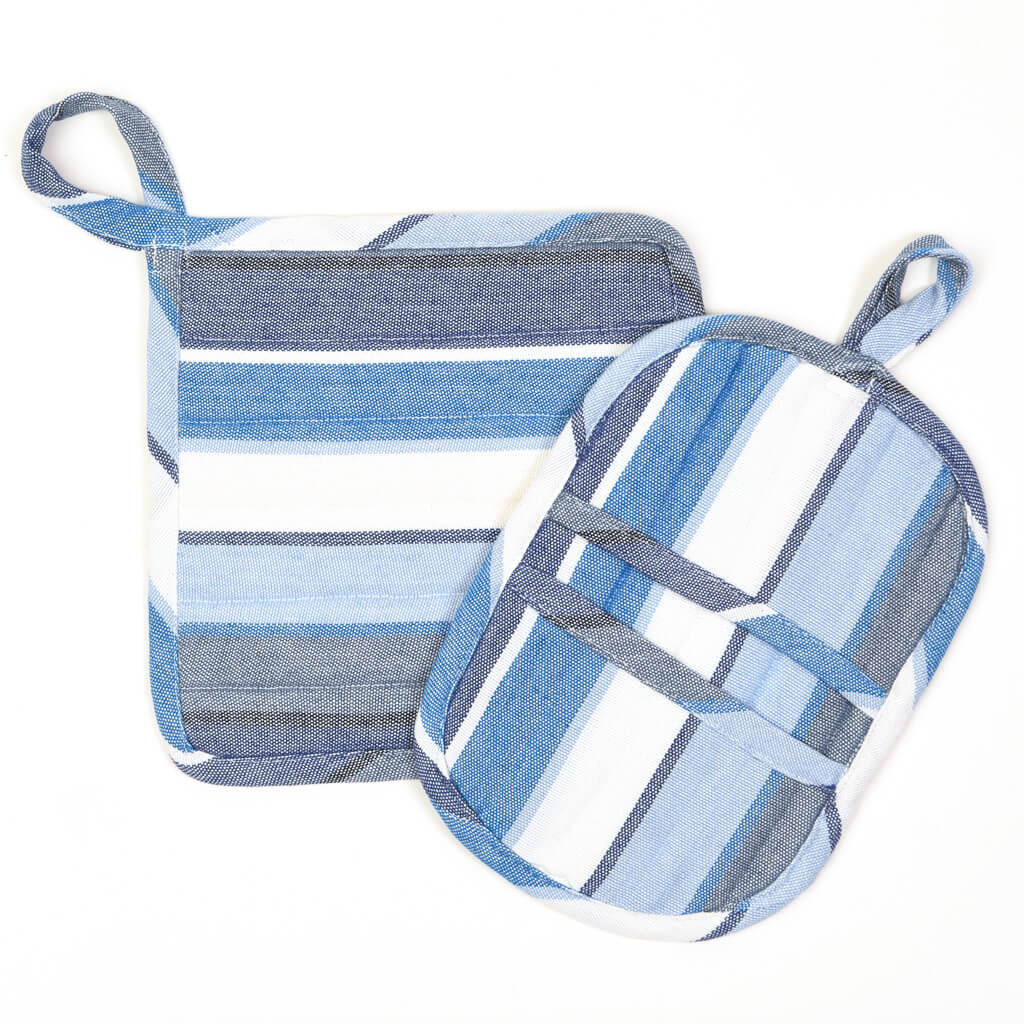 Potholder Gift Set | Regatta Stripe