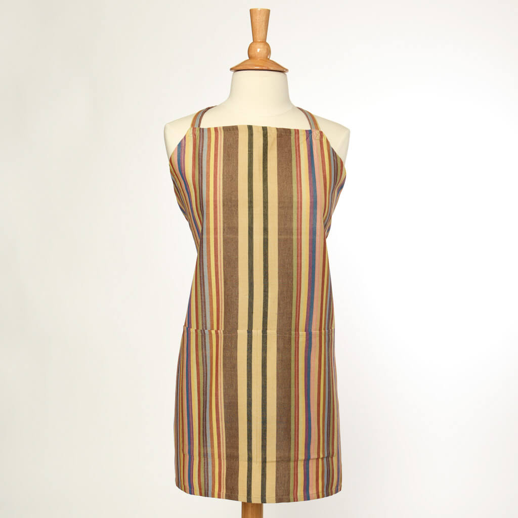 Bib Apron | Earth tones Stripes ON SALE