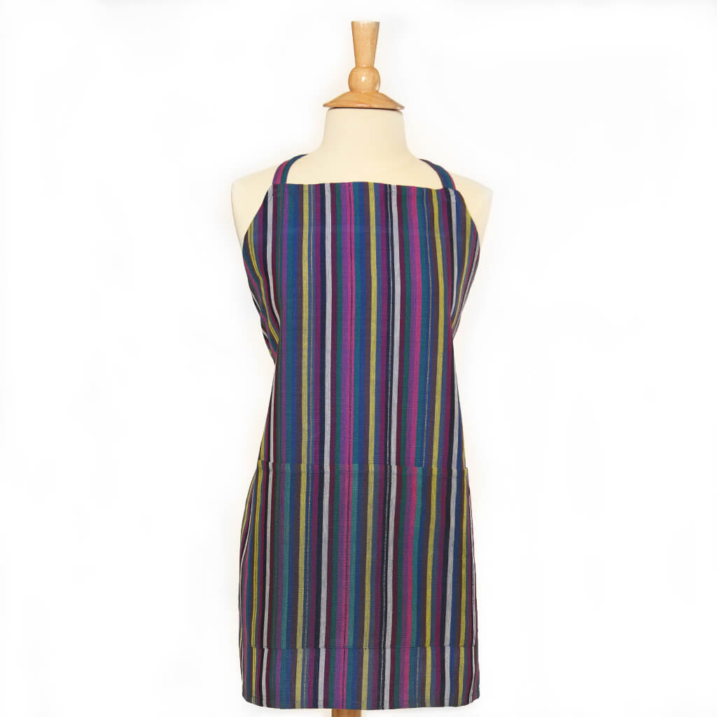 Bib Apron | Cobalt Stripes