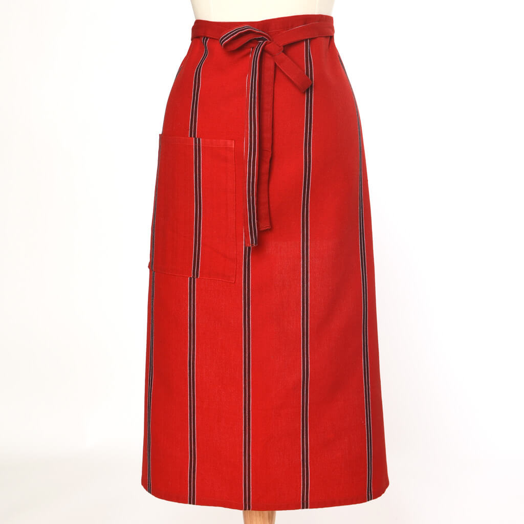 Bistro Apron | Cajola Red Stripes
