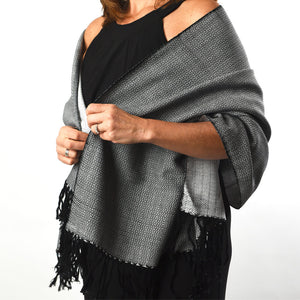 Soft & Neutral Shawl | Black & White
