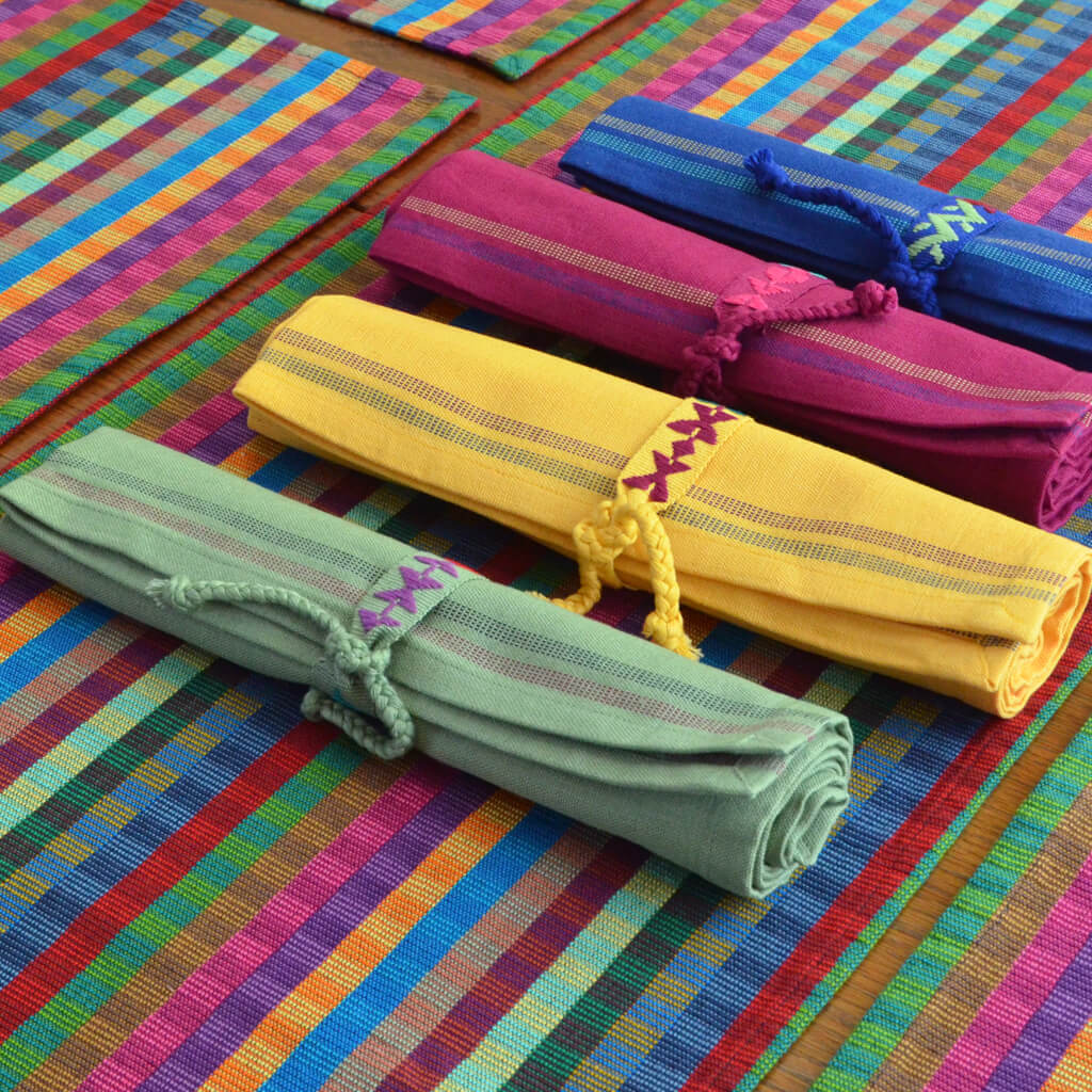 Cuadritos Table Runner Jeweltone