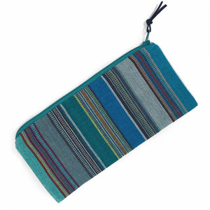 Pencil Case | Quetzal Jade Stripes
