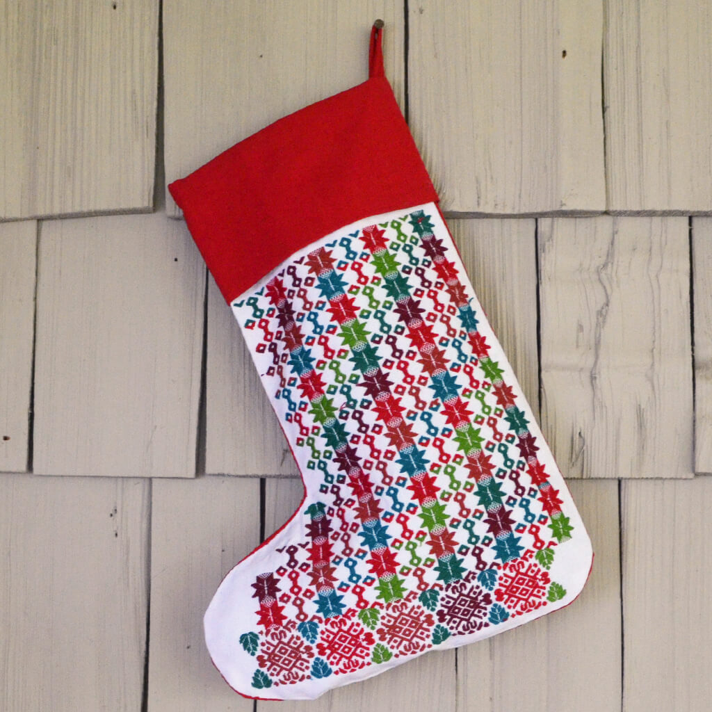 Jacquard Christmas Stocking