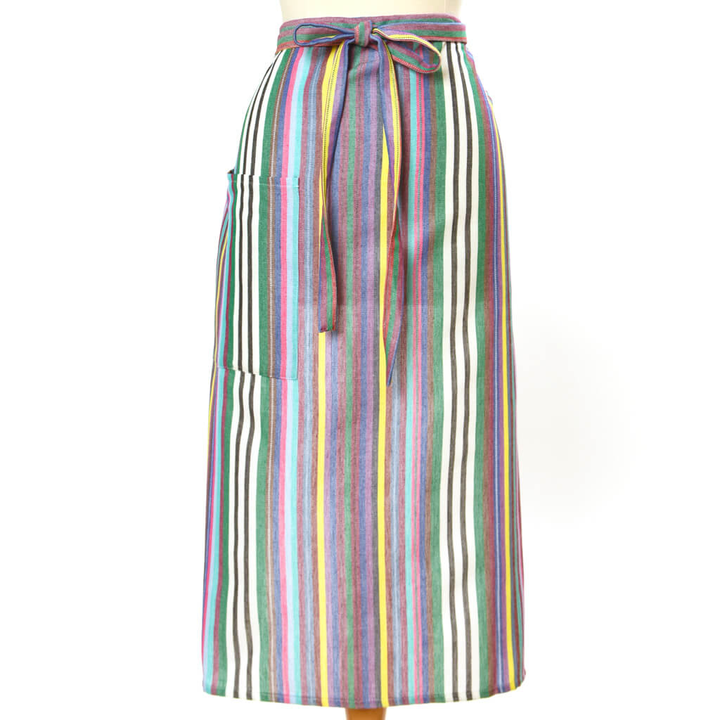 Bistro Apron | Soft Multi Stripes