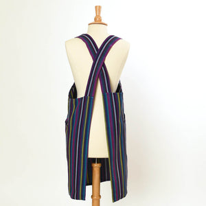 Crossback Apron | Cobalt Stripes